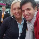 PARIS ROLAND GARROS 2012 WITH MARTINA NAVRATILOVA