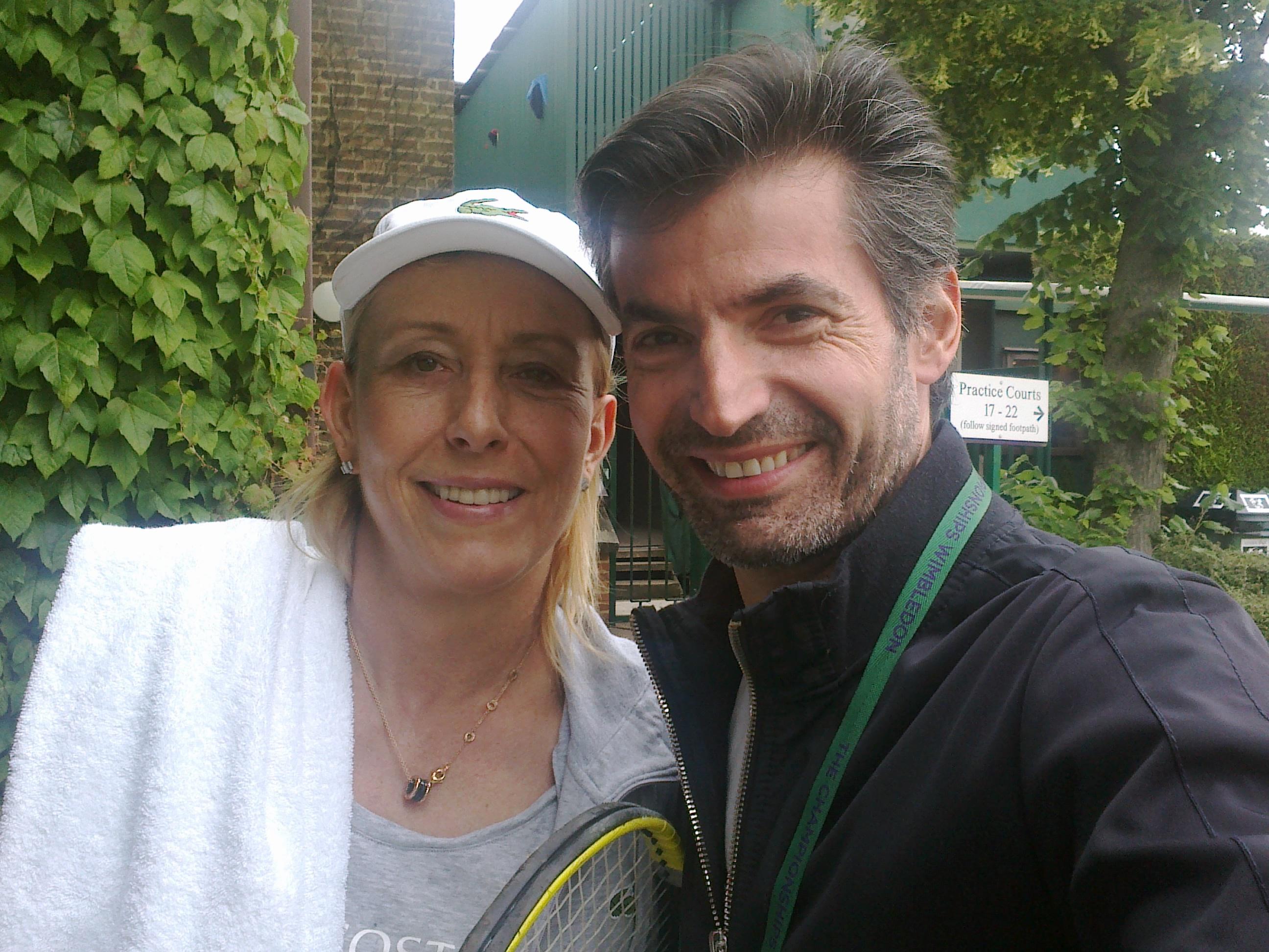Νίκος Μιχαλόπουλος, Μαρτίνα Ναβρατίλοβα, Wimbledon