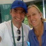 Μαρτίνα Ναβρατίλοβα, ο θρύλος του τένις σε set με τον Νίκο Μιχαλόπουλο